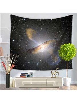 Galaxy Stars and Gray Space Decorative Hanging Wall Tapestry