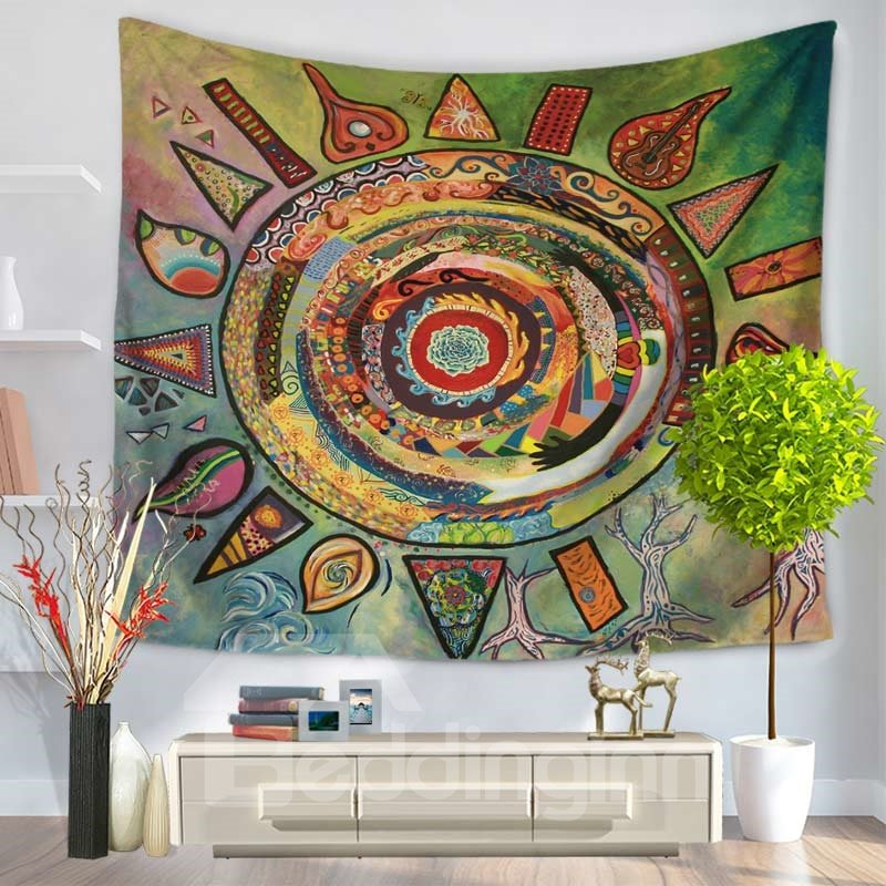 Abstract Celestial Sun Chic Style Decorative Hanging Wall Tapestry