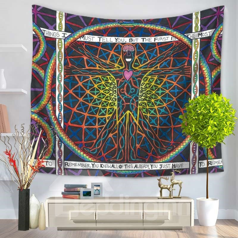 Sun Energy Man Shape Ethnic Style Decorative Hanging Wall Tapestry