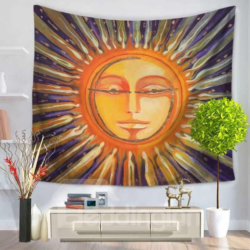 Celestial Sun and Man Shining Funny Decorative Hanging Wall Tapestry