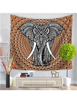 Elephant and Bohemia Pattern Ethnic Style Decorative Hanging Wall Tapestry