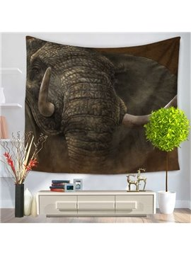 Elephant Trunk and Ivory Pattern Exotic Style Decorative Hanging Wall Tapestry