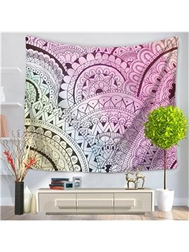 Tiered Mandala Pattern Ethnic Style Decorative Hanging Wall Tapestry