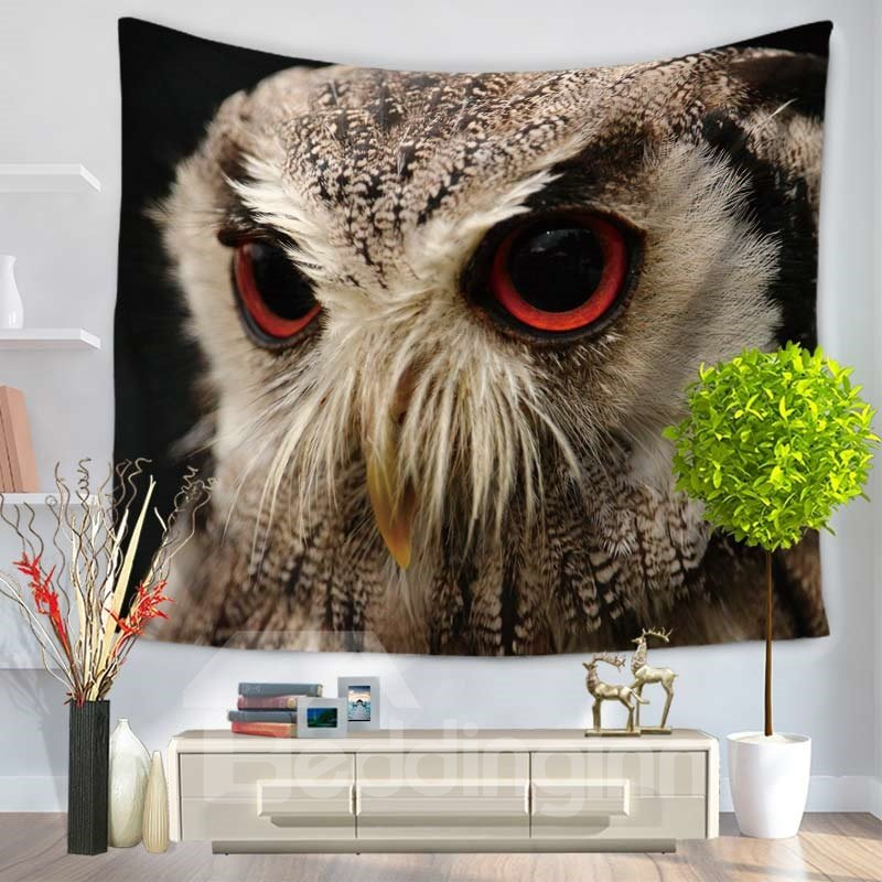 Big Eyes Cool Night Owl Pattern Decorative Hanging Wall Tapestry