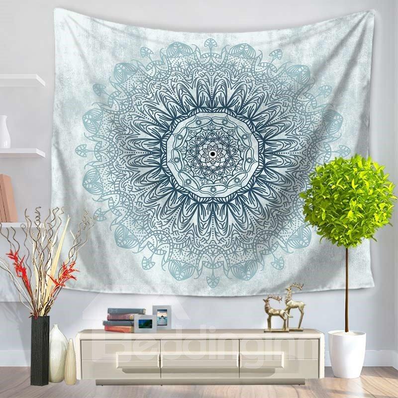 Blue Mandala Pattern Ethnic Style Decorative Hanging Wall Tapestry