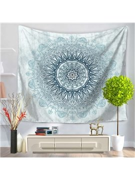 Blue Mandala Pattern Ethnic Style Decorative Hanging Wall Tapestry