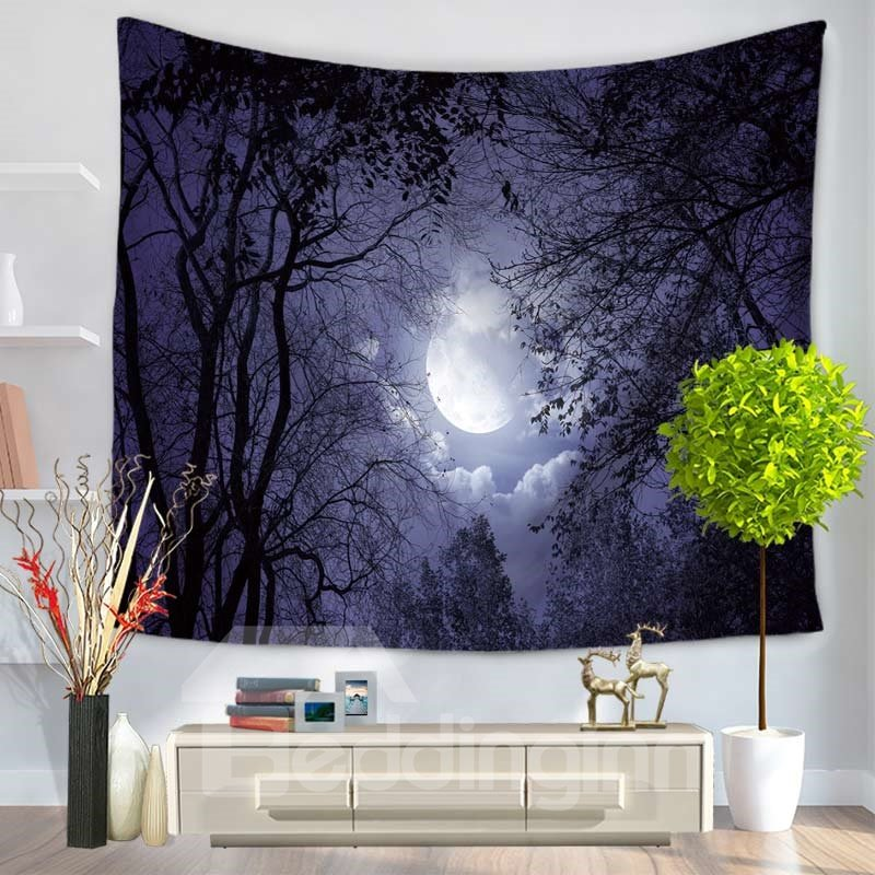 Magical Forest and Galaxy Space Decorative Hanging Wall Tapestry