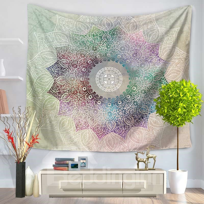 Colorful Mandala Flower Pattern Exotic Style Decorative Hanging Wall Tapestry