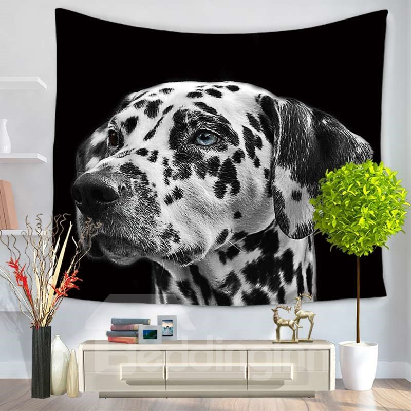 Spotty Dog/Dalmatian Watching Ahead Pattern Decorative Hanging Wall Tapestry
