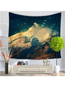 The Summit of Mountain and Galaxy Sky Decorative Hanging Wall Tapestry