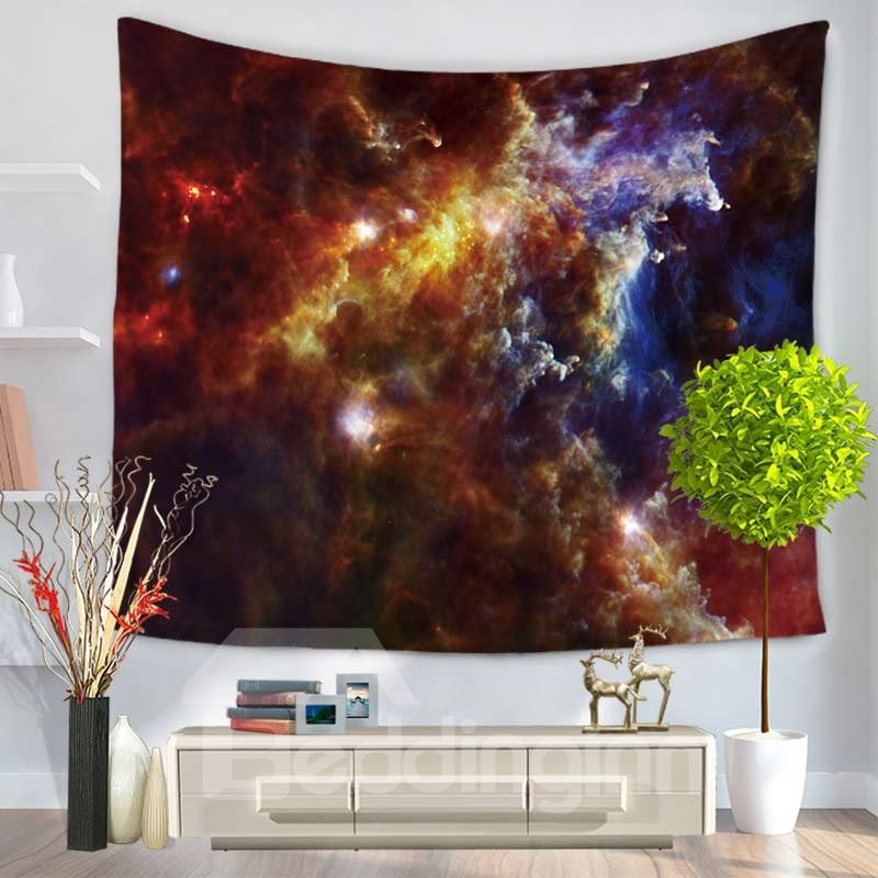 Rolling Clouds Galaxy Space and Universe Decorative Hanging Wall Tapestry