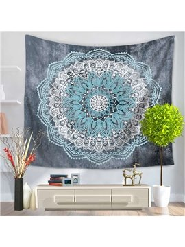 Blue Mandala Pattern Exotic Style Decorative Hanging Wall Tapestry