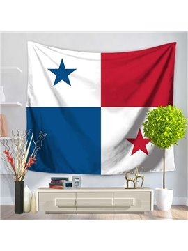 The Republic of Panama Flag Design Decorative Hanging Wall Tapestry