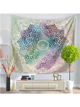 Changeful Color Mandala/Lotus Pattern Exotic Style Decorative Hanging Wall Tapestry