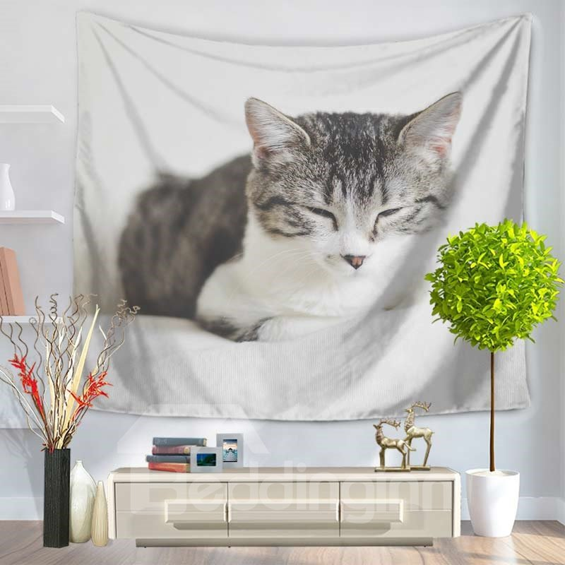 Cute Pet Cats Napping and Resting Decorative Hanging Wall Tapestry
