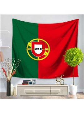 Flag of Portugal Design Decorative Hanging Wall Tapestry