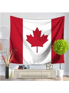 Canadian Flag and Maple Design Decorative Hanging Wall Tapestry