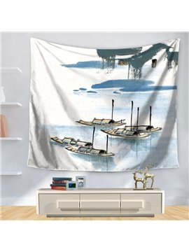 Artwork Expressive Landscape Painting Peace Pattern Decorative Hanging Wall Tapestry