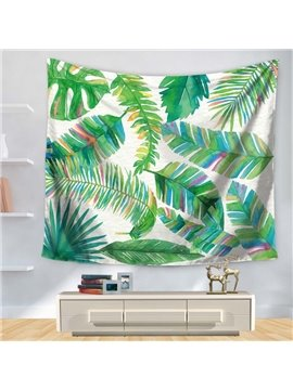 Various Tropical Plants and Palm Leaves Decorative Hanging Wall Tapestry