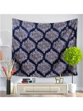 Royalblue Luxuriant Mandala Pattern Ethnic Style Decorative Hanging Wall Tapestry