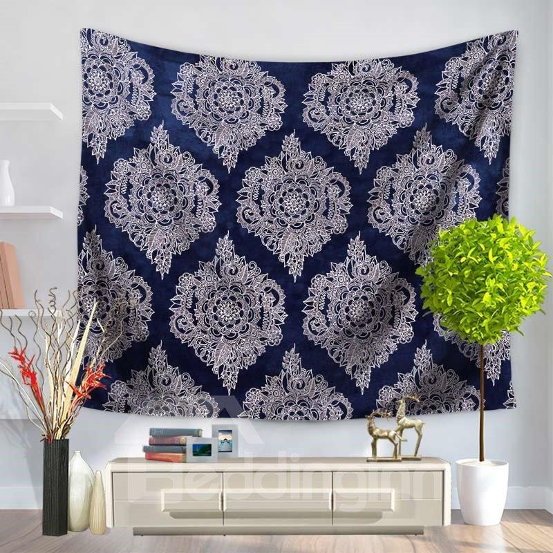 Artful Royalblue Luxuriant Mandala Pattern Ethnic Style Decorative Hanging Wall Tapestry