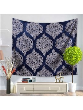 Artful Royalblue Luxuriant Mandala Pattern Ethnic Style Decorative Hanging Wall Tapestry
