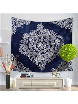 Royalblue Mandala Pattern Bohemia Style Decorative Hanging Wall Tapestry