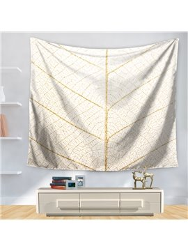 The Amplification of Gold Leaf Veins Pattern Decorative Hanging Wall Tapestry