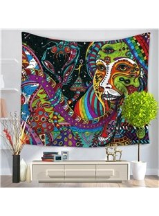 Mandala Psychedelic Creepy Medusa Pattern Decorative Hanging Wall Tapestry
