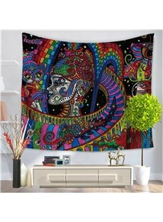 Colorful Rainbow Psychedelic Medusa Pattern Decorative Hanging Wall Tapestry