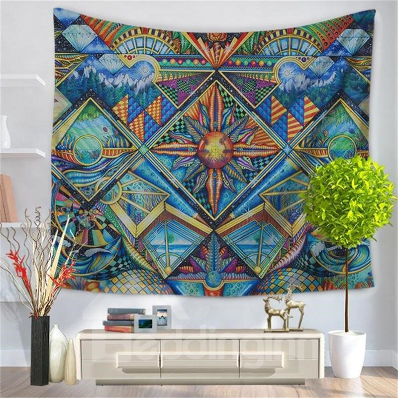 Ornaments Mystical Universe Swirls Boho Ethnic Style Decorative Hanging Wall Tapestry
