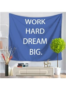 WORK HARD DREAM BIG Words Pattern Decorative Hanging Wall Tapestry
