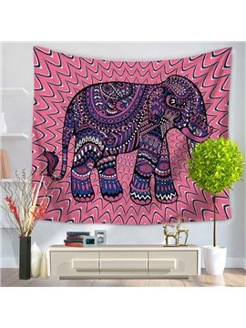 Mandala Psychedelic Elephant Pink Decorative Hanging Wall Tapestry
