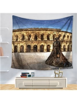 Watercolor Italy Abattoir Abstract Modern Style Decorative Hanging Wall Tapestry