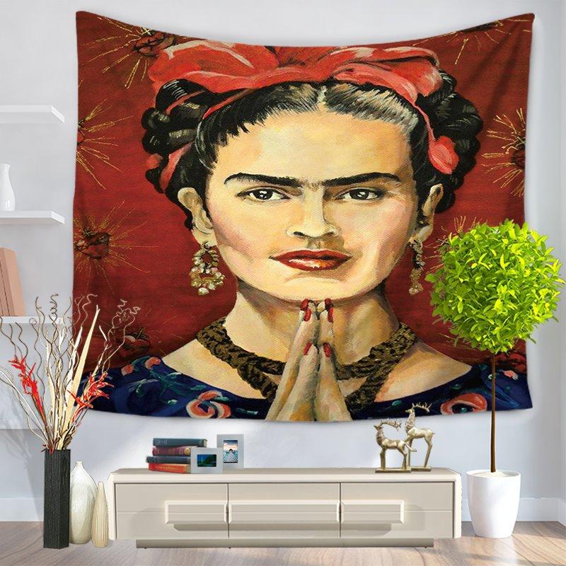 Artwork Frida Kahlo Mexico Latin Style Decorative Hanging Wall Tapestry