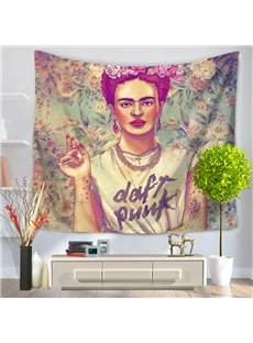 Artwork Daft Punk Print Frida Kahlo Mexico Latin Style Decorative Hanging Wall Tapestry