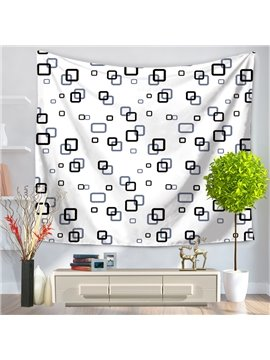 Little Square Grid Pop Style Decorative Hanging Wall Tapestry