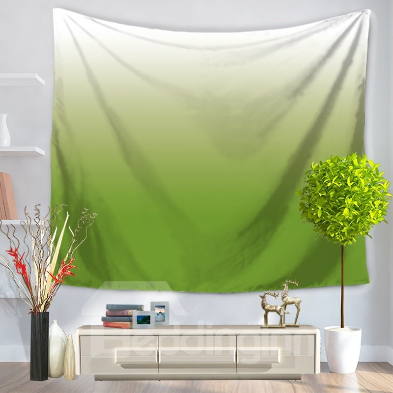Gradient Pure Ramp Shader Color Green Decorative Hanging Wall Tapestry