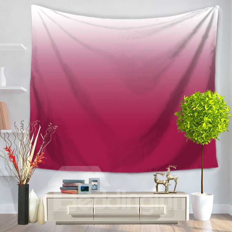 Gradient Pure Ramp Shader Color Pink Decorative Hanging Wall Tapestry
