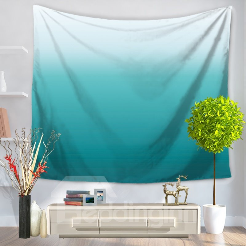 Gradient Pure Ramp Shader Color Blue Ocean Decorative Hanging Wall Tapestry