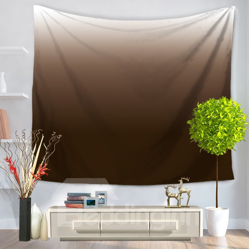 Gradient Pure Ramp Shader Coffee Color Decorative Hanging Wall Tapestry