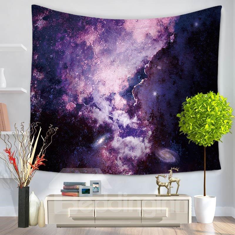 Purple Galaxy Universe Milky Way Pattern Decorative Hanging Wall Tapestry