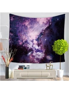 Purple Galaxy Universe Milky Way Pattern Decorative Hanging Wall Tapestry