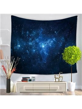 Blue Galaxy Universe Milky Way Pattern Decorative Hanging Wall Tapestry