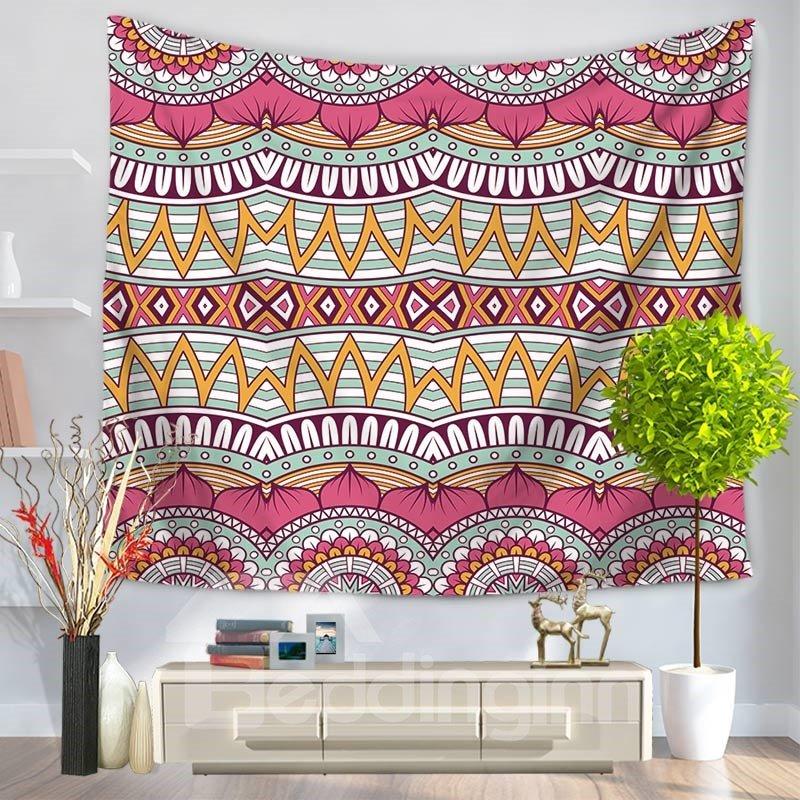 Pink Hippy Mandala Bohemian Indian Decorative Hanging Wall Tapestry