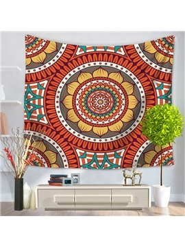 Circle Round Hippy Mandala Bohemian Ethnic Style Decorative Hanging Wall Tapestry