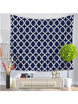 Purplish Blue Gear New Geometric Pattern Decorative Hanging Wall Tapestry