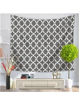 Abstract Grey Color New Geometric Pattern Decorative Hanging Wall Tapestry