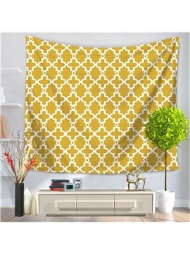Yellow Abstract New Geometric Art Pattern Decorative Hanging Wall Tapestry