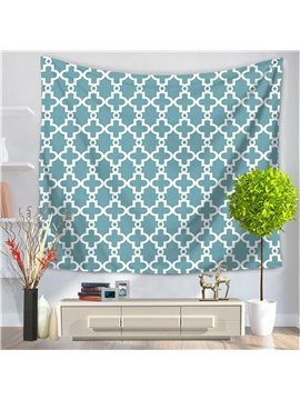 Nudy Blue Gear New Geometric Pattern Decorative Hanging Wall Tapestry
